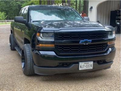 """2018 Chevrolet Silverado 1500 - 20x12 -51mm - ARKON OFF-ROAD Lincoln - Level 2"""" Drop Rear - 285/45R20"""