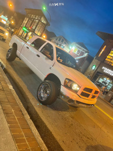"2008 Dodge Ram 2500 - 22x12 -51mm - ARKON OFF-ROAD Crown Series Victory - Stock Suspension - 33"" x 12.5"""