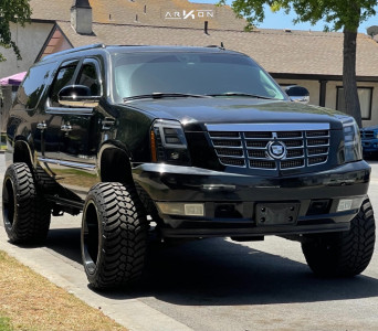 """2007 Cadillac Escalade ESV - 22x14 -81mm - ARKON OFF-ROAD Lincoln - Suspension Lift 7"""" - 325/50R22"""