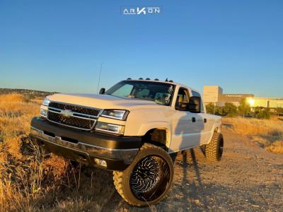 "2007 Chevrolet Silverado 2500 HD Classic - 24x14 -81mm - ARKON OFF-ROAD Crown Series Victory - Leveling Kit - 35"" x 13.5"""