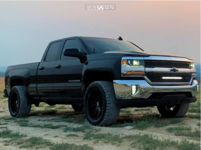 "2019 Chevrolet Silverado 1500 LD - 20x10 -25mm - ARKON OFF-ROAD Davinci - Suspension Lift 3.5"" - 33"" x 12.5"""