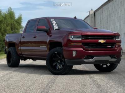 "2016 Chevrolet Silverado 1500 - 20x12 -51mm - ARKON OFF-ROAD Lincoln - Stock Suspension - 33"" x 12.5"""