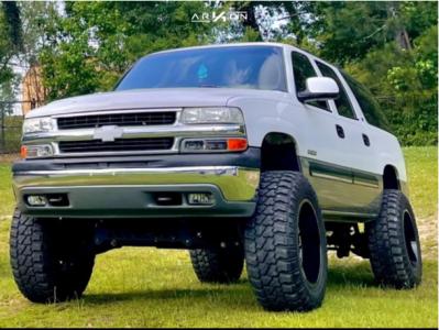 "2000 Chevrolet Suburban 1500 - 20x12 -51mm - ARKON OFF-ROAD Caesar - Suspension Lift 6"" - 36"" x 13.5"""