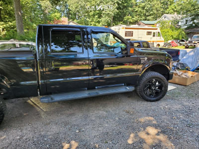 2010 Ford F-350 Super Duty - 20x10 -24mm - ARKON OFF-ROAD Lincoln - Leveling Kit - 295/55R20