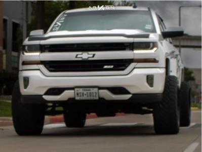 "2017 Chevrolet Silverado 1500 - 22x12 -51mm - ARKON OFF-ROAD Lincoln - Suspension Lift 4.5"" - 33"" x 12.5"""