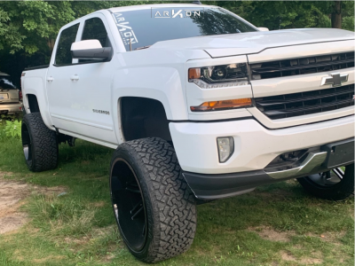 "2017 Chevrolet Silverado 1500 - 26x14 -81mm - ARKON OFF-ROAD Davinci - Suspension Lift 9"" - 37"" x 13.5"""