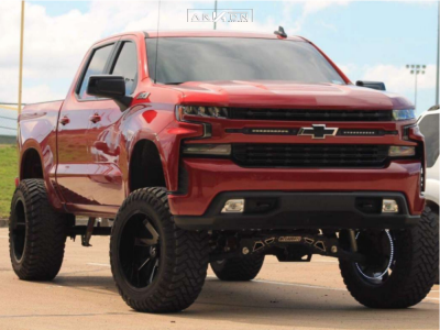 "2019 Chevrolet Silverado 1500 - 22x12 -51mm - ARKON OFF-ROAD Lincoln - Suspension Lift 9"" - 37"" x 13.5"""