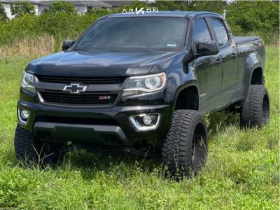"""2017 Chevrolet Colorado - 22x12 -44mm - ARKON OFF-ROAD Caesar - Suspension Lift 6"""" - 33"""" x 12.5"""""""