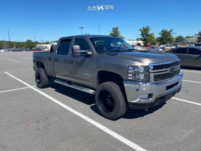 """2013 Chevrolet Silverado 2500 HD - 20x12 -51mm - ARKON OFF-ROAD Mandela - Stock Suspension - 33"""" x 12.5"""""""