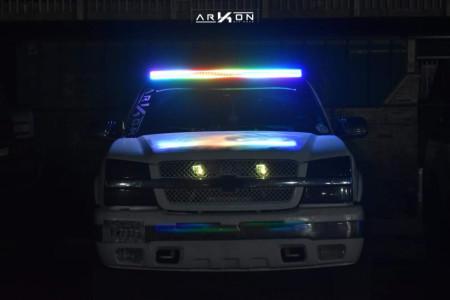 "2003 Chevrolet Silverado 1500 - 20x10 -25mm - ARKON OFF-ROAD Lincoln - Suspension Lift 3"" - 35"" x 12.5"""