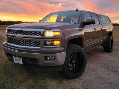 "2015 Chevrolet Silverado 1500 - 20x12 -51mm - ARKON OFF-ROAD Mandela - Leveling Kit - 33"" x 12.5"""