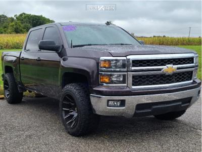 "2014 Chevrolet Silverado 1500 - 20x12 -51mm - ARKON OFF-ROAD Roosevelt - Stock Suspension - 33"" x 12.5"""