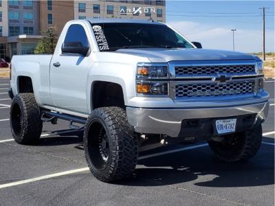 "2014 Chevrolet Silverado 1500 - 22x12 -51mm - ARKON OFF-ROAD Crown Series Triumph - Suspension Lift 6"" - 35"" x 12.5"""