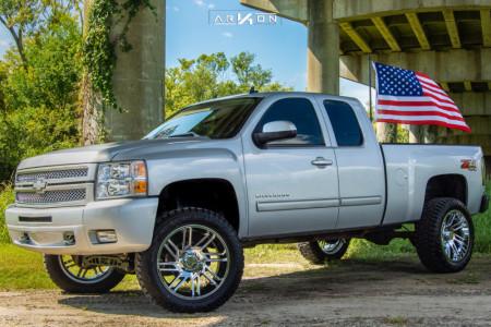 "2013 Chevrolet Silverado 1500 - 22x10 -25mm - ARKON OFF-ROAD Davinci - Suspension Lift 6"" - 35"" x 12.5"""