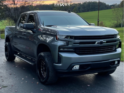 2021 Chevrolet Silverado 1500 - 20x10 -25mm - ARKON OFF-ROAD Caesar - Leveling Kit - 305/50R20