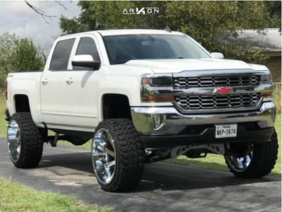 "2016 Chevrolet Silverado 1500 - 26x14 -81mm - ARKON OFF-ROAD Lincoln - Suspension Lift 9"" - 37"" x 13.5"""