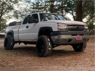 "2005 Chevrolet Silverado 2500 HD - 20x12 -51mm - ARKON OFF-ROAD Lincoln - Stock Suspension - 33"" x 12.5"""