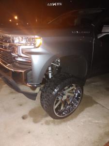 "2020 Chevrolet Silverado 1500 - 24x12 -51mm - ARKON OFF-ROAD Lincoln - Suspension Lift 6"" - 33"" x 12.5"""