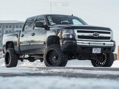 """2010 Chevrolet Silverado 1500 - 20x12 -51mm - ARKON OFF-ROAD Alexander - Suspension Lift 5"""" - 33"""" x 12.5"""""""