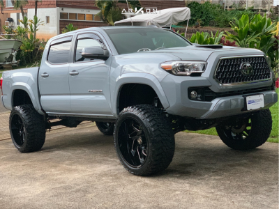 "2019 Toyota Tacoma - 22x12 -51mm - ARKON OFF-ROAD Cleopatra - Suspension Lift 6.5"" - 33"" x 12.5"""