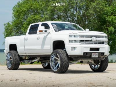 "2015 Chevrolet Silverado 2500 HD - 26x14 -81mm - ARKON OFF-ROAD Lincoln - Suspension Lift 6.5"" - 37"" x 13.5"""