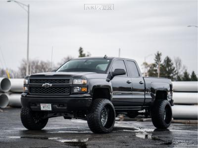 """2015 Chevrolet Silverado 1500 - 24x14 -81mm - ARKON OFF-ROAD Crown Series Victory - Suspension Lift 7"""" - 35"""" x 13.5"""""""