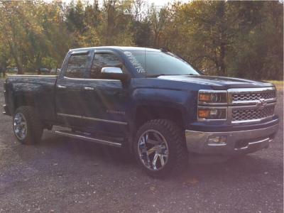2015 Chevrolet Silverado 1500 - 20x12 -51mm - ARKON OFF-ROAD Lincoln - Leveling Kit - 285/50R20