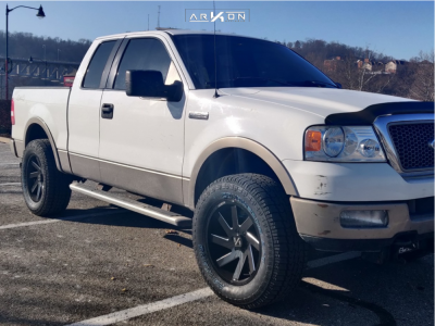"""2005 Ford F-150 - 20x9 -1mm - ARKON OFF-ROAD Lincoln - Leveling Kit - 35"""" x 12.5"""""""