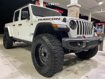 "2020 Jeep Gladiator - 20x10 -25mm - ARKON OFF-ROAD Crown Series Triumph - Suspension Lift 2.5"" - 37"" x 13.5"""