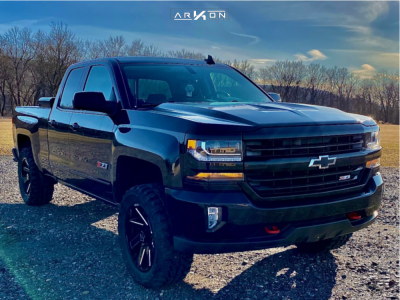 "2016 Chevrolet Silverado 1500 - 20x9 -1mm - ARKON OFF-ROAD Lincoln - Leveling Kit - 33"" x 12.5"""