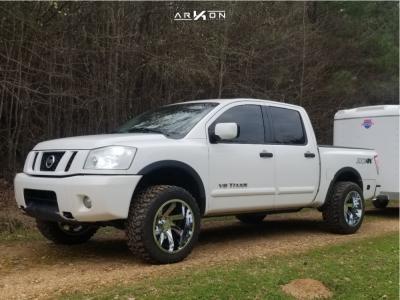 """2008 Nissan Titan - 20x12 -51mm - ARKON OFF-ROAD Lincoln - Leveling Kit - 33"""" x 12.5"""""""