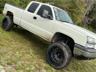 """2004 Chevrolet Silverado 1500 - 22x14 -81mm - ARKON OFF-ROAD Alexander - Suspension Lift 6"""" - 35"""" x 12.5"""""""