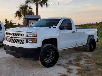 """2015 Chevrolet Silverado 1500 - 22x14 -81mm - ARKON OFF-ROAD Alexander - Suspension Lift 3"""" - 305/40R22"""