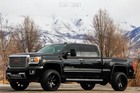"2015 GMC Sierra 2500 HD - 22x12 -51mm - ARKON OFF-ROAD Lincoln - Leveling Kit - 33"" x 12.5"""