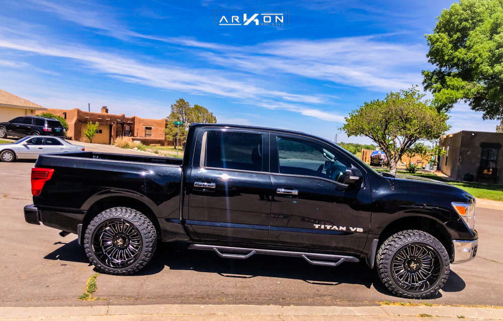 1 2018 Titan Nissan Rough Country Suspension Lift 3in Arkon Off Road Alexander Black