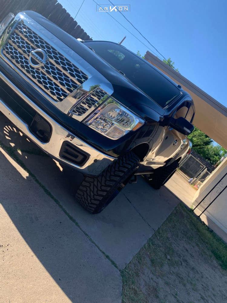 5 2018 Titan Nissan Rough Country Suspension Lift 3in Arkon Off Road Alexander Black