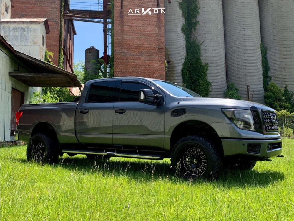 1 2016 Titan Xd Nissan Rough Country Leveling Kit Arkon Off Road Alexander Black