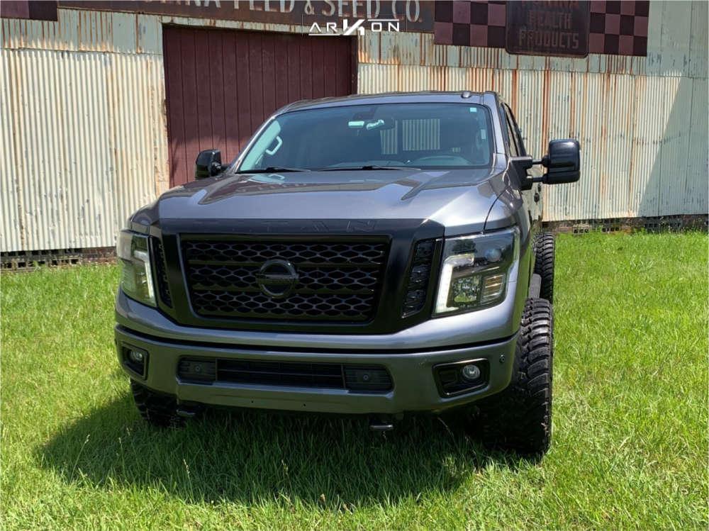 2 2016 Titan Xd Nissan Rough Country Leveling Kit Arkon Off Road Alexander Black