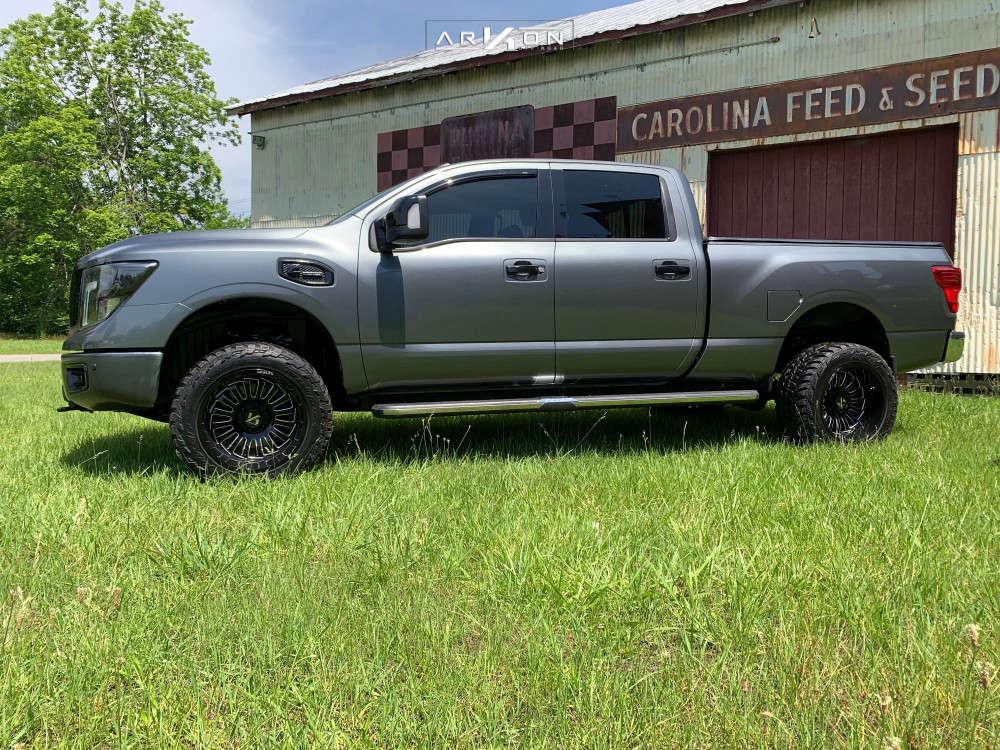 4 2016 Titan Xd Nissan Rough Country Leveling Kit Arkon Off Road Alexander Black