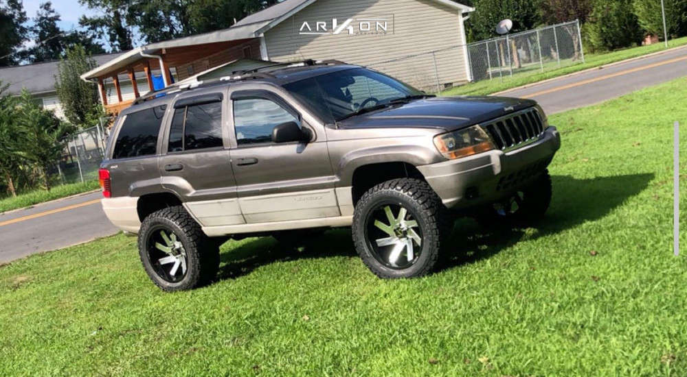 1 1999 Grand Cherokee Jeep Laredo Rough Country Suspension Lift 4in Arkon Off Road Lincoln Machined