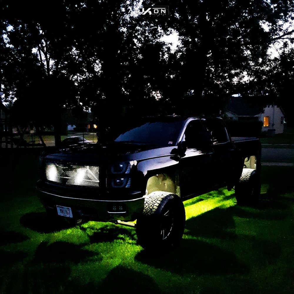 14 2014 Silverado 1500 Chevrolet Pro Comp Suspension Lift 6in Arkon Off Road Caesar Machined Black
