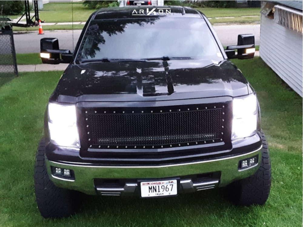 2 2014 Silverado 1500 Chevrolet Pro Comp Suspension Lift 6in Arkon Off Road Caesar Machined Black