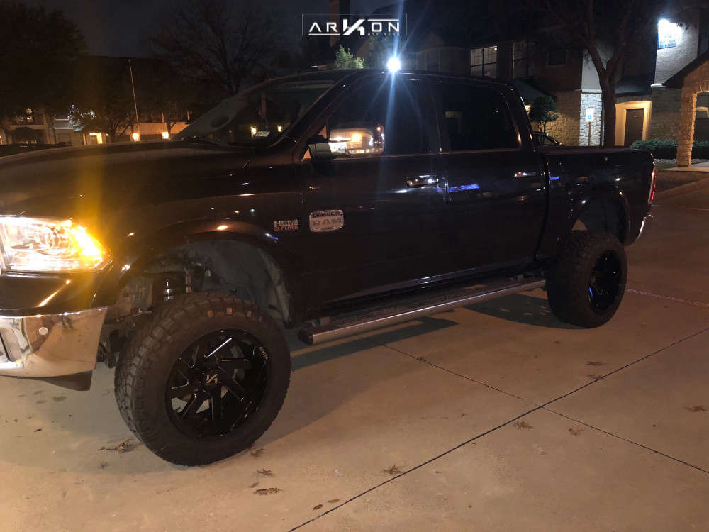 1 2016 1500 Ram Rough Country Suspension Lift 8in Arkon Off Road Lincoln Black