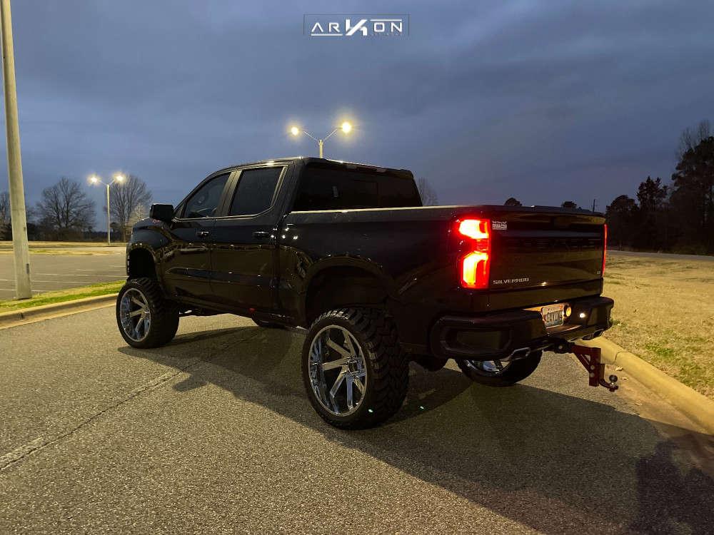 9 2021 Silverado 1500 Chevrolet Full Throttle Suspension Lift 9in Arkon Off Road Lincoln Chrome