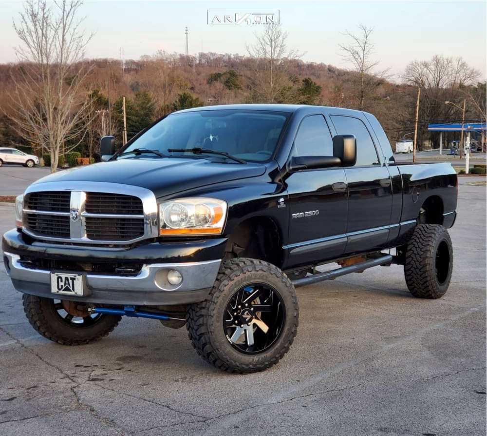 4 2006 Ram 2500 Dodge Rough Country Suspension Lift 5in Arkon Off Road Lincoln Black