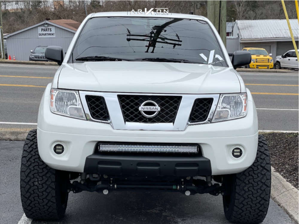 2 2019 Frontier Nissan Rough Country Suspension Lift 6in Arkon Off Road Alexander Black