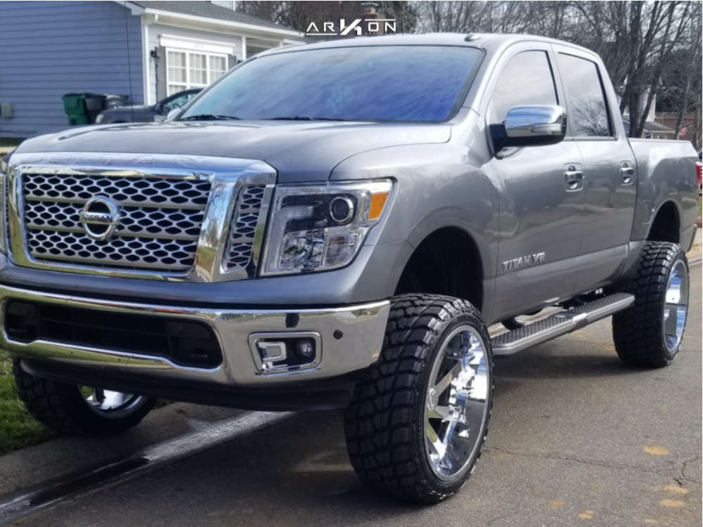 1 2018 Titan Nissan Rough Country Suspension Lift 6in Arkon Off Road Lincoln Chrome