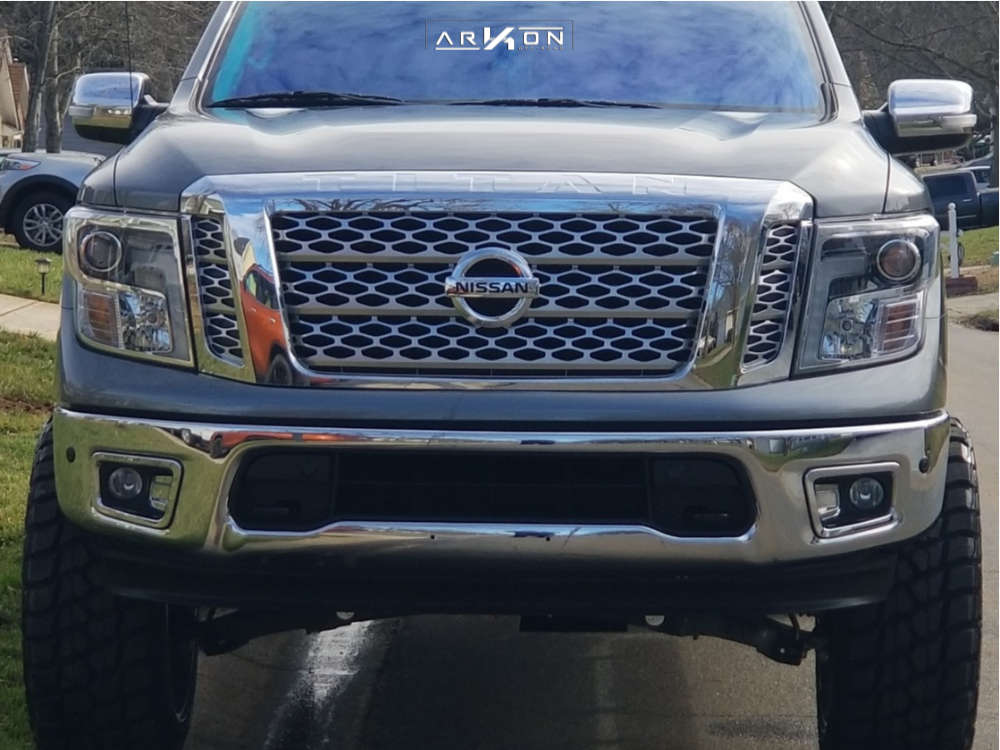 3 2018 Titan Nissan Rough Country Suspension Lift 6in Arkon Off Road Lincoln Chrome