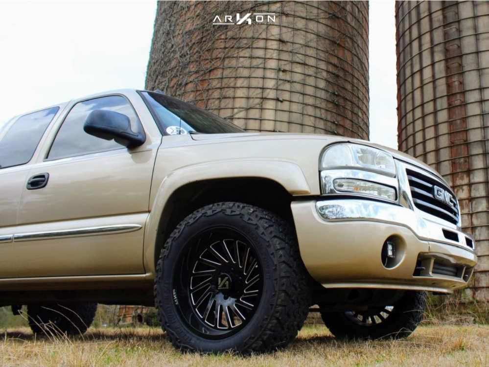 6 2005 Sierra 1500 Gmc Superlift Suspension Lift 25in Arkon Off Road Caesar Machined Black