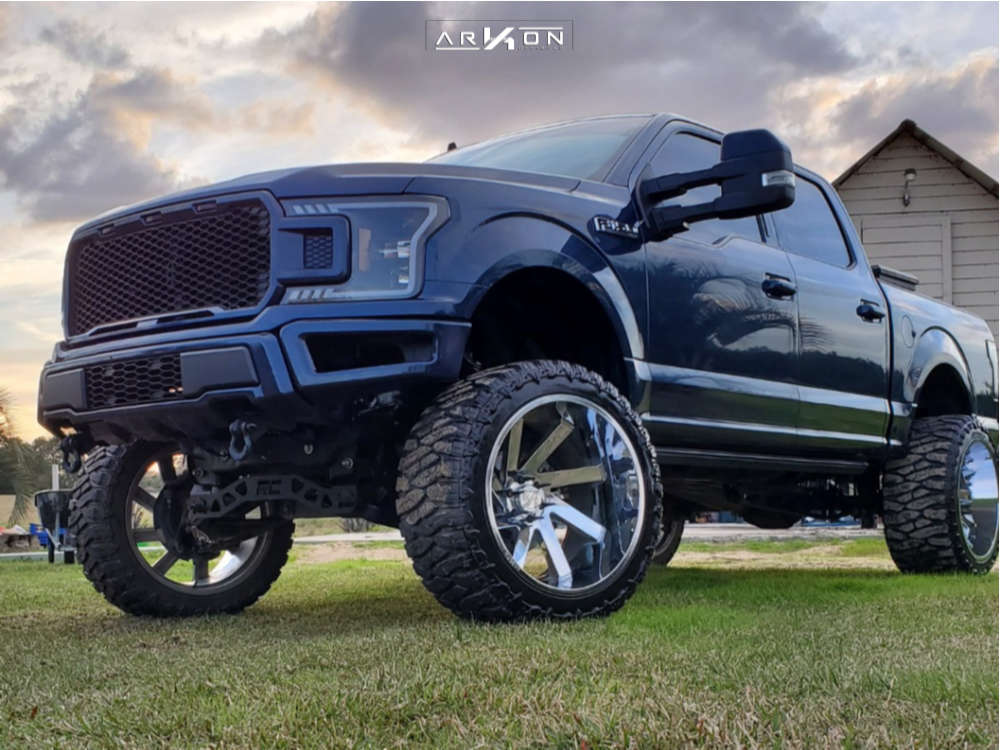 16 2019 F 150 Ford Rough Country Suspension Lift 8in Arkon Off Road Lincoln Chrome